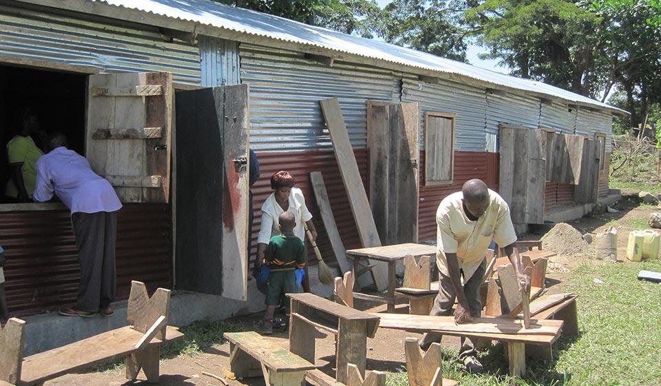 Nkosi Island School furniture production