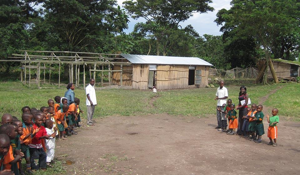 Die Nkosi Island School im Aufbau.