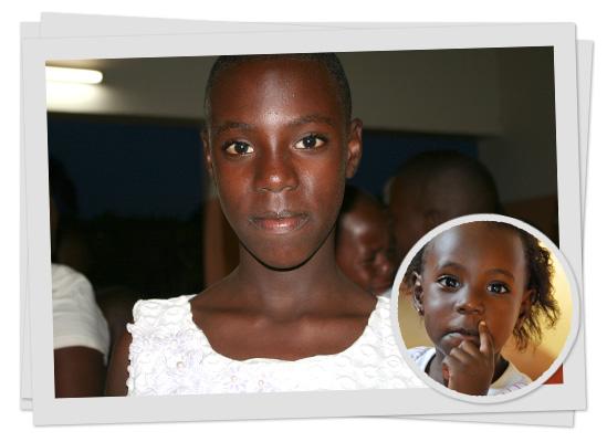 Nina vor etwa zehn Jahren und heute - immer ein Sonnenschein